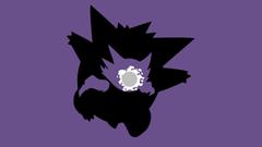 Pokemon Ghastly Haunter Gengar Simple background Minimalism