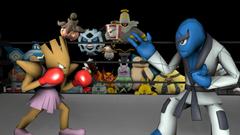 Sawk vs Hitmonchan by kirby62626