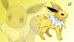 Eevee and Jolteon Wallpapers by Glench