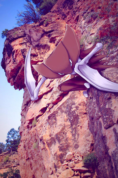 Wild Kabutops in the Canyon by Ninja