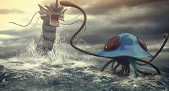 Pokemon Battle Gyarados VS Tentacruel by Remy31460