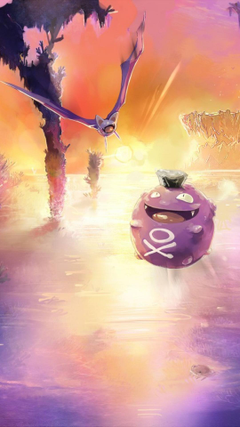 Pokemon landscapes koffing zubat wallpapers