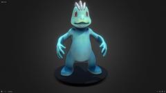 Machop Pokemon 3D asset