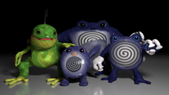 Blender 3d Models Poliwag Evolutions by alewism
