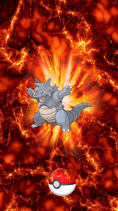 Fire Pokeball Rhydon Sidon Rhyhorn