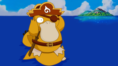 Psyduck on the water