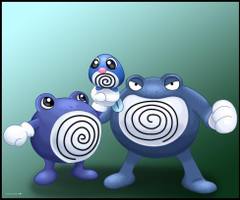 Poliwag Poliwhirl and Poliwrath by Ninjendo