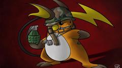 pokemon helmet raichu grenade camouflage dogtags