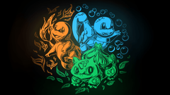 SimplyWallpapers Bulbasaur Charmander Pokemon Squirtle kanto