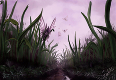 Pokesafari Venomoth and the tall grass by SebasVishno