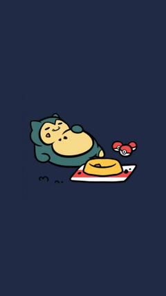 Snorlax Neko Atsume Pokemon iWallpapers