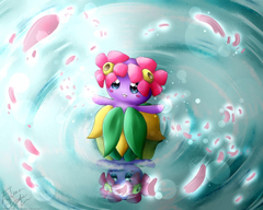 Shiny Bellossom DeviantART by DrawerElma