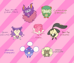 Blissey Variations by Stumpywumper