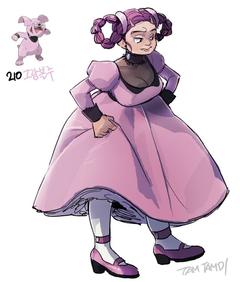Pokemon gijinka 209 210 Snubbull Granbull