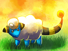 A wild Mareep appeared by SunsetTheDragon