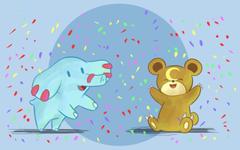 Phanpy and Teddiursa Celebrate by DaILz