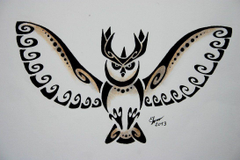 Tribal noctowl by Esmeekramer
