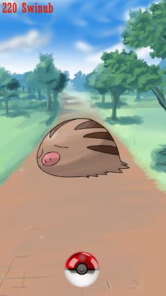 Street Pokeball Swinub