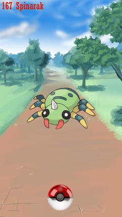 Street Pokeball Spinarak