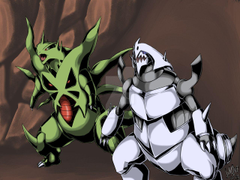 Tyranitar X Aggron by WolveForger