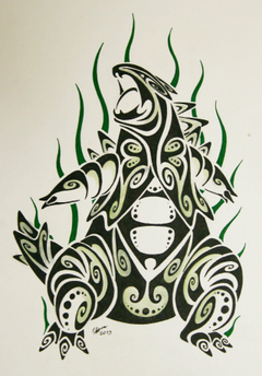 Tribal tyranitar by Esmeekramer