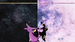 Espeon and Umbreon Desktop by DrBoxHead