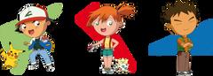 Chibis Ash Pikachu Misty Togepi and Brock by PolarStar on
