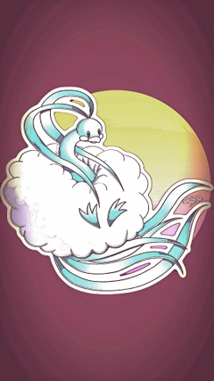 An edit of Altaria for a phone wallpaper requested by Tolstar pokemon