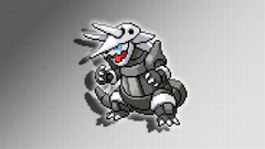 Aggron Sprite Wallpapers by Glench