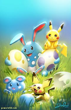 pokemon pikachu easter pichu azumarill azurill eggs babies