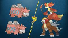 PTCGO Bonus Match Camerupt Camerupt vs Entei Delphox