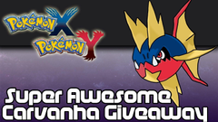 CLOSED Pokemon X and Y Speed Boost Carvanha Giveaway