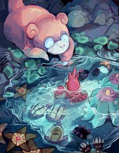Pokémon slowpoke corphish wimpod mareanie staryu pyukumuku