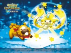 Cutest Pokemon image Bidoof and Jirachi HD wallpapers and