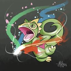 Kecleon using Magic Punch by NitroxDraws