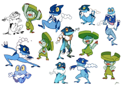 Some frog pokemon Lombre