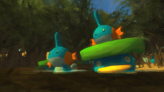 Mudkip and Lotad in the Sandbox 3 by jedi201