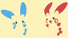 Minun and Plusle Full HD Wallpapers and Backgrounds Image