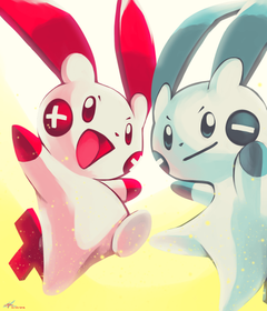 Day20 ELECTRIC RODENT Plusle and Minun by Rock