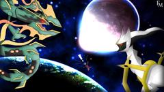 Mega Rayquaza versus Arceus Wallpapers by FyazMostofa