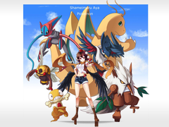 Pokemon crossover deoxys dragonite honchkrow ninjask pokemon scrafty