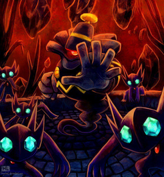 This is Mr Dusknoir and his Sableye gang He tried to harm us but