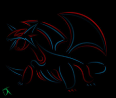 Tribal Salamence Inverted by Shadowy