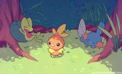 Torchic Pokémon Treecko Mudkip HD Wallpapers Desktop and Mobile