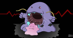 Swalot eating a ditto by prideofwesker29
