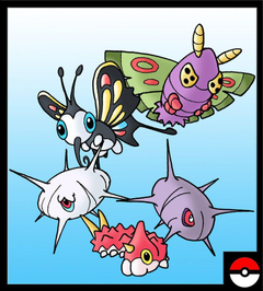 Wurmple Family by ZappaZee