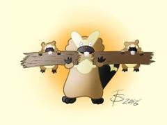 Bidoof and Bibarel by KIDif