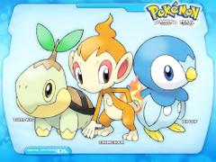 pokemon starters piplup chimchar turtwig ash