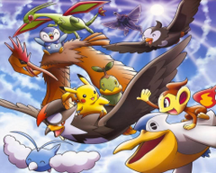 Pikachu Turtwig Piplup Chimchar Starly