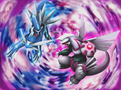 D Dialga and Palkia Wallpapers by Keh